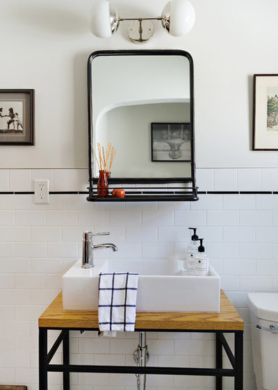 Transitional Bathroom by Design Factory Interiors