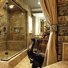 Traditional Bathroom by Laura Morlock Interiors