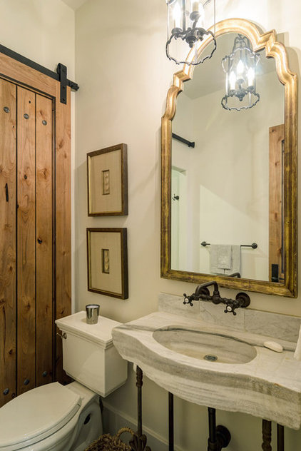 Rustic Powder Room by Design Visions of Austin