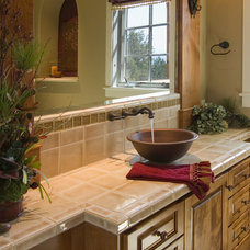 Mediterranean Bathroom by Cherie Myrick Interiors