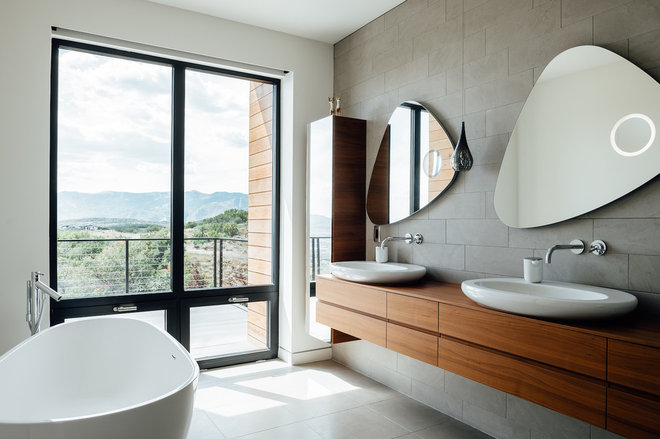 Modern Bathroom by Park City Design Build