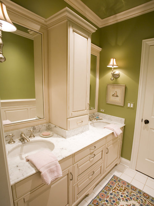 Double Vanity Linen Towers Home Design Ideas, Pictures, Remodel and Decor