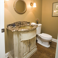 rustic bathroom by Cheryl D & Company