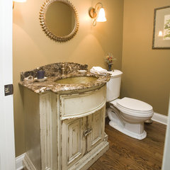 mediterranean bathroom by Cheryl D & Company