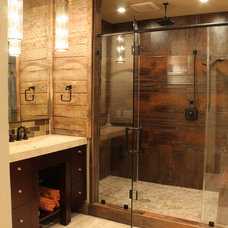 Rustic Bathroom by Erin Paige Design, LLC