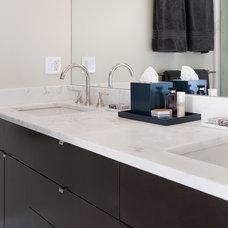 Transitional Bathroom by Pinney Designs
