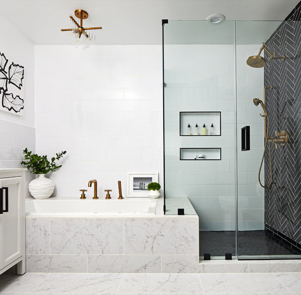 Transitional Bathroom by GreyHunt Interiors