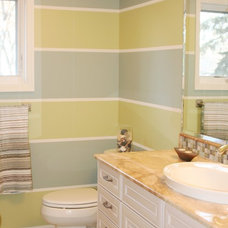Transitional Bathroom by Tina Roth