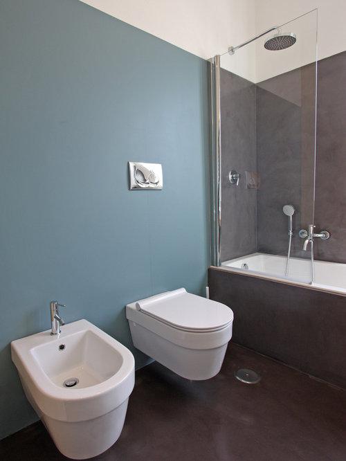 Foto e idee per stanze da bagno stanza da bagno con - Piastrelle su cartongesso ...