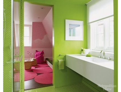 Eclectic Bathroom by Mark English Architects, AIA