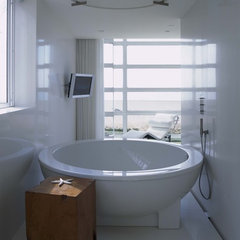 contemporary bathroom Balboa Island Residence
