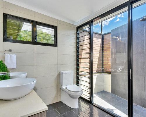 75 Bathroom with Concrete Floors Design Ideas - Stylish Bathroom ...