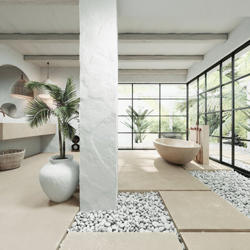 Bali Villa Project with Piet Boon by COCOON bathroom collection