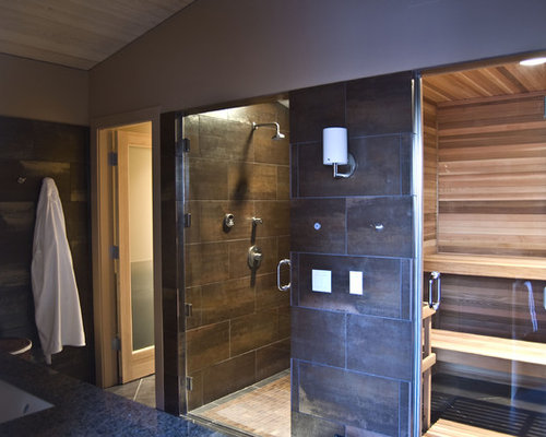 Dry Sauna Bathroom Houzz - How to turn bathroom into sauna for bathroom decor ideas