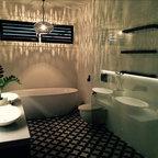 Residential Church Conversion Contemporary Bathroom