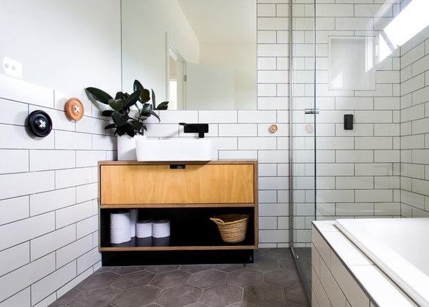 Scandinavian Bathroom by Innate Home