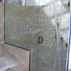Asian Bathroom by Sans Soucie Art Glass