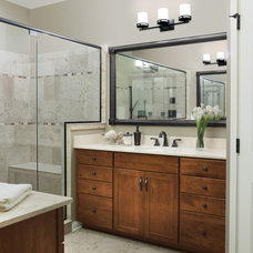 Transitional Bathroom by Chris and Dick's