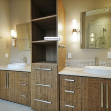 Modern Bathroom by Bamboo Crew Custom Cabinets and Countertops