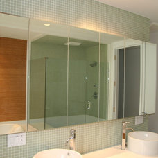 Modern Bathroom by Toby Leary Fine Woodworking Inc.