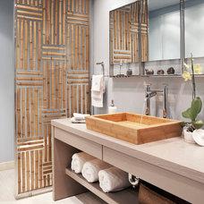 Asian Bathroom by Luminexa Surfacing