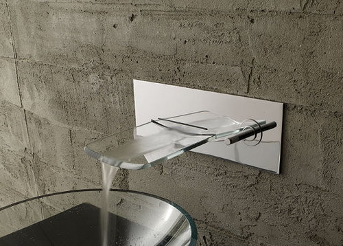 contemporary kitchen faucet waterfall faucet houzz 2487