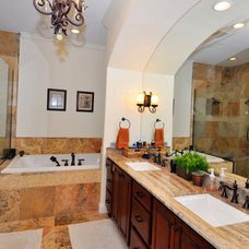 Mediterranean Bathroom by Javic Homes