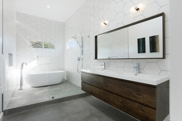 Trendy Badeværelse by Hamilton Architects