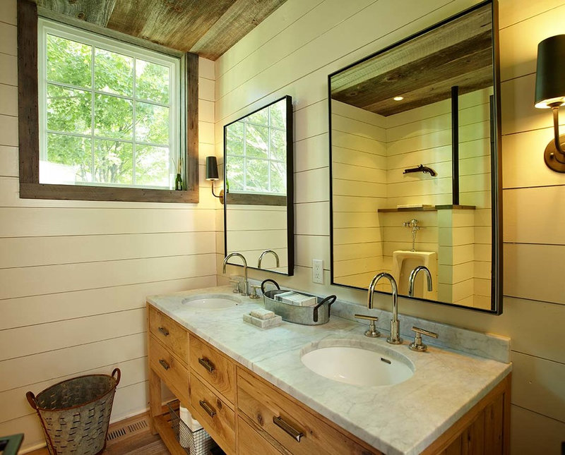 farmhouse bathroom by Kelly & Co.