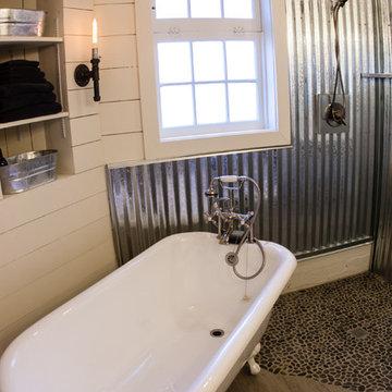 Barn Bathroom by Janet Weber Interior Design