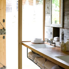Farmhouse Bathroom by SHED Architecture & Design