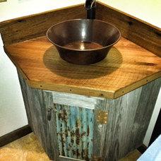 Rustic Bathroom by American Barn and Wood