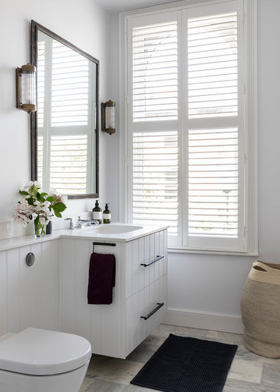 Transitional Bathroom by Imperfect Interiors