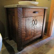 Rustic Bathroom by Mill Creek Mfg ltd