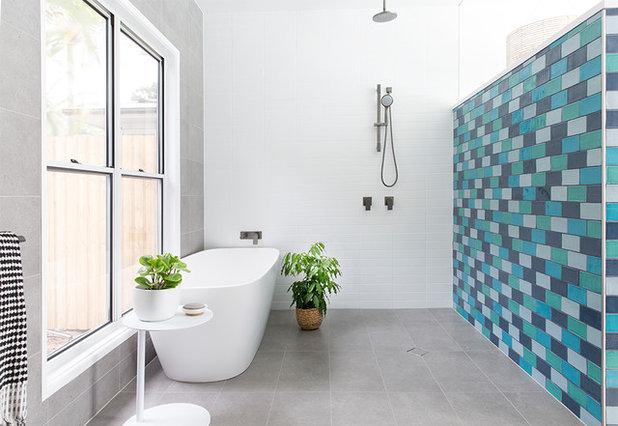 Beach Style Bathroom by The Design Villa