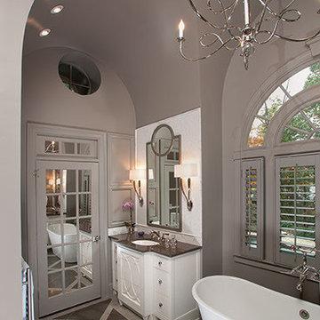 Barrel Vaulted ceiling in master bathroom