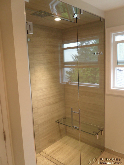 Best Glass Shower With Bench Design Ideas Remodel Pictures Houzz