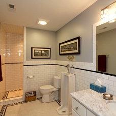 Transitional Bathroom by Distinctive Remodeling, LLC