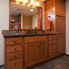 Craftsman Bathroom by The Cabinet Store