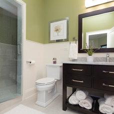 Transitional Bathroom by Miller + Miller Real Estate