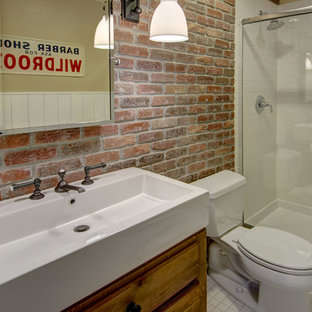 Basement Bathroom Shower Brick