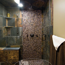 Eclectic Bathroom by Finished Basement Company
