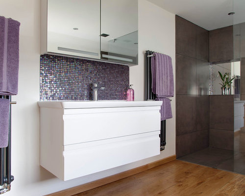 Purple Backsplash Home Design Ideas, Pictures, Remodel And