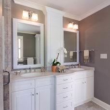 Traditional Bathroom by Custom Kitchens Inc