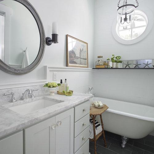 Clawfoot Tub Surround Shelf | Houzz