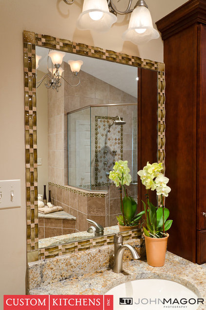 mediterranean bathroom by Custom Kitchens Inc