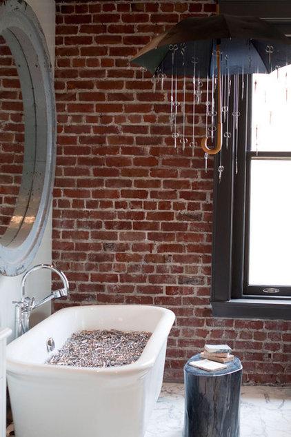 Eclectic Bathroom by Janet Paik