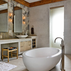 eclectic bathroom by d'apostrophe design, inc.