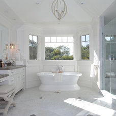 beach style bathroom by DTM INTERIORS