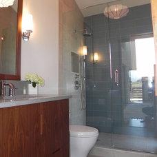 Contemporary Bathroom by Karen White Interior Design